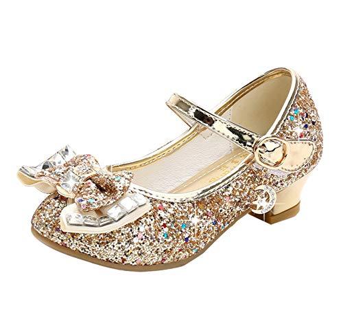 Cadidi Dinos Girl Dress Wedding Party Heel Princess Flower Shoes (Toddler/Little Kid/Big Kid) 12 M US Little Kid