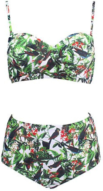 SNEEDWomen's Vintage High Waist Animal Print Padded Bikini Swimwear