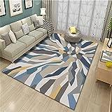 Decoracion Dormitorio Alfombras Pasillo Azul amarillo gris blanco diseño de patrón geométrico sala de estar moderna estudio área de oficina comedor seguro y sin decoloración Alfombra Recibidor Interio