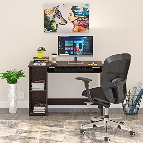 BLUEWUD Mallium Engineered Wood Office Desk; Study Desk(Wenge Finish)