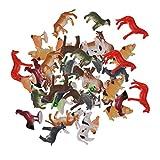 Harilla 48 Piezas de Figuras de Animales de Plástico de Granja...