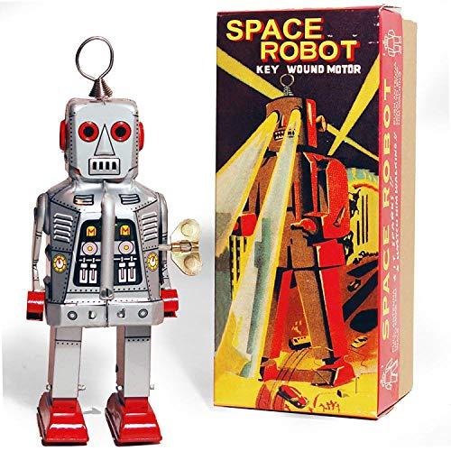 Mécanique astronaute Sparky Robby Robot étain Jouet Vent jusqu'yoshiya Robot