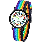Kids Analog Watch, Read Easily Children's First Watch Daily Water Resistant Wrist Watch for Boys and Girls with Soft Cloth Strap