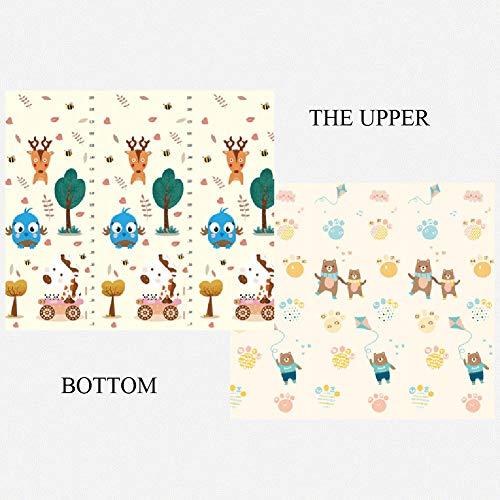 WZHIJUN Tapis de jeu Pliable Épaissir Bébé Crawl Tapis de Mousse Portable 2 Couleurs (Color : B, Size : 180x200x1.5CM)