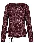 Ragwear BRISHA - Blusa de manga larga para mujer, vegana rojo vino XS