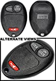 APDTY 24754 Keyless Entry Remote Key Fob Transmitter Assembly 3-Button (Replacement For GM 10335583)