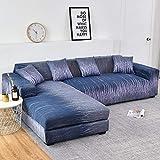 WXQY Fundas geométricas elásticas Fundas de sofá elásticas protección para Mascotas Funda de sofá Esquina en Forma de L Funda de sofá Todo Incluido A12 4 plazas