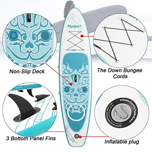 Product Image 6: Premium Inflatable Stand Up Paddle Board (6 inches Thick) with Durable SUP Accessories & Carry Bag   Wide Stance, Surf Control, Non-Slip Deck, Leash, Paddle and Pump , Standing Boat for Youth & Adult