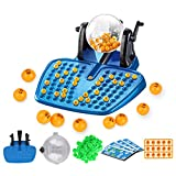 Juego de fiesta clásico de Bingo, para familia y niños, con números, juego de máquinas, juguete para fiestas de Navidad, para adultos, familias y niños