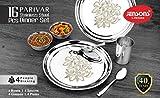 JENSONS Lifetime-Stainless Steel Shahi PARIVAR 16 PCS Dinner Set-HIGH Mirror Polish with Permanent