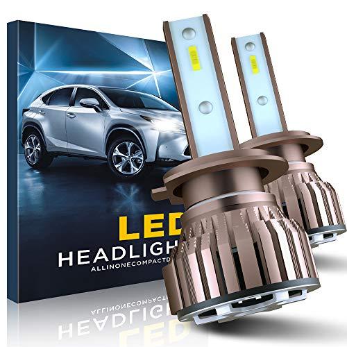 Bombillas H7 LED, 10800LM 6000K Faros Delanteros para Coche