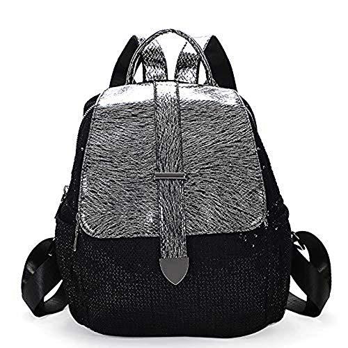 Mochila clásica informal con lentejuelas reversibles, bolsa de sirena con purpurina, bolsa de viaje con estuche para lápices, bolsas de senderismo ligeras de regalo