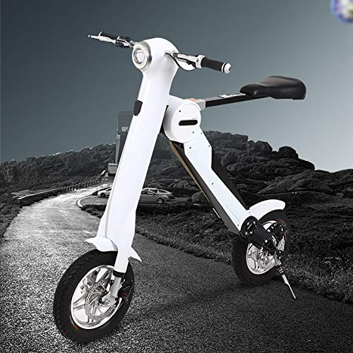 Zhangfengjiao - Mini patinete eléctrico plegable portátil de dos ruedas con batería de litio de 12 pulgadas, neumáticos de 35-40 km de duración de la batería