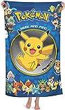 J-LIFE Serviette de plage Pokémon Pikachu - Douce...
