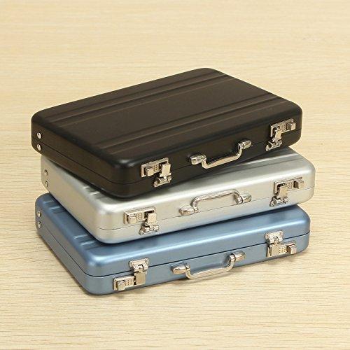 Heel Inna maletín Diseño Estuche para Tarjeta de Visita, Aluminio Business Tarjetas de Crédito Box Mini maletín Tarjeta Soporte High Grade Business Office Tarjetas Box: Amazon.es: Hogar