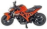 SIKU 1384 - Moto KTM 1290 Super Duke R, Métal/Plastique, Orange, Pneus En Caoutchouc