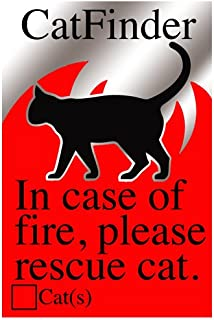 Cat Pet Rescue Sticker Fire and Emergency Pet Not