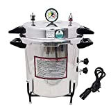 IS IndoSurgicals Aluminium Seamless Electric Pressure Cooker Type Autoclave - 24 L (12' Dia. X 14' H)