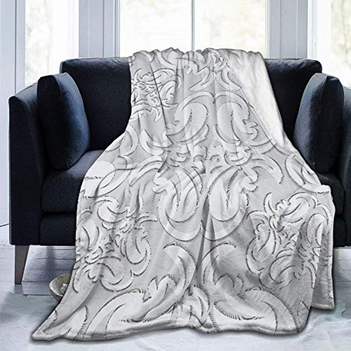 Megpo Blanket Christmas Personalized Fleece Blanket,Ornaments Resembling A Stencil,Living Room/Bedroom/Sofa Couch Bed Flannel Quilt Throw Blanket