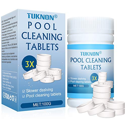 TUKNON Poolreinigungstabletten, Pool reinigungstabletten, Pool Cleaning Tablets, 100 Magic Poolreinigungstabletten, Pool- und Spa-Reiniger