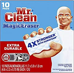 Mr. Clean Magic Eraser extra durable scrubber is 4x stronger with DURAFOAM cleaning performance vs. The leading all-purpose bleach Spray This cleaning scrubber is tough on dirt, all around the house! Surface cleaner, wall cleaner, bathtub cleaner, ba...