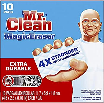 Mr Clean Magic Eraser Extra Durable Bathroom Shower and Oven Cleaner Cleaning Pads with Durafoam 10 Count