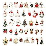 38pz carino ciondoli natalizi charms christmas pendant lega di zinco misti ciondolo per gioielli fai da te pendenti portachiavi bracciale collana orecchini gioielli trovare craft decorazione accessori