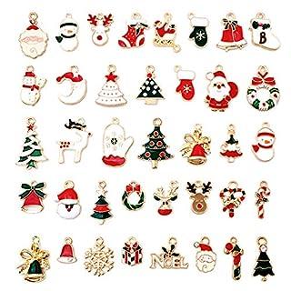 scheda 38pz carino ciondoli natalizi charms christmas pendant lega di zinco misti ciondolo per gioielli fai da te pendenti portachiavi bracciale collana orecchini gioielli trovare craft decorazione accessori