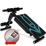 TOPYL Foldable Sit Up Bench,Dumbbell Bench Multifonctional Workout Bench,Flat Incline Decline Exercise Home Training Gym,Adjustable Weight Bench Black