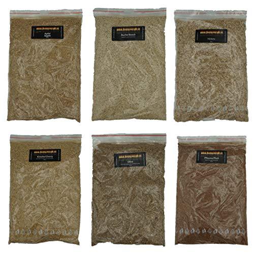 Smokerholz24 Räuchermehl/Räucherspäne Mix Räuchermehl-Buche Räuchermehl-Hickory Räuchermehl-Pflaume Räuchermehl-Kirsche Räuchermehl-Apfel und Räuchermehl-Olive