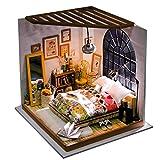 TOYANDONA Kit de Casa de Muñecas en Miniatura de Bricolaje Mini Casa Set Construir Casa en Miniatura Hecha a Mano Regalo de Madres de Cumpleaños para Niño Y Niña