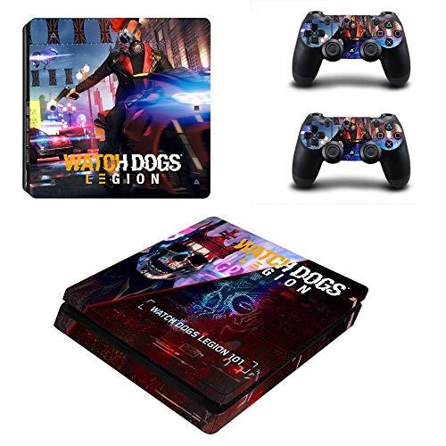 FENGLING Watch Dogs Ps4 Slim Sticker Playstation 4 Skin Sticker Decal per Playstation 4 Ps4 Slim Console e Controller Skin in Vinile