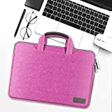 HNKHKJ Bolso de Mano portátil de Lona Impermeable para Macbook Air Pro Retina 11 12 13 14 15 Pulgadas Bolso para portátil para PC Bolso para portátil-Pink_15-Inch