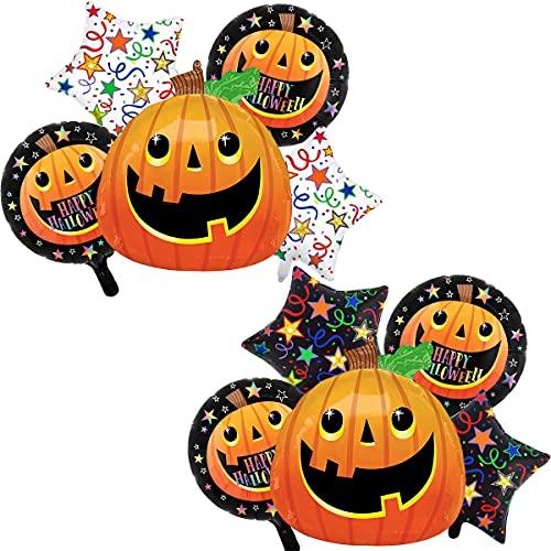 10pcs Halloween Foil Balloon - simyron Halloween Party Decorations Balloon, Indoor and Outdoor Bedroom Fireplaces, Gardens, Halloween Party Decorations (Halloween Balloons)
