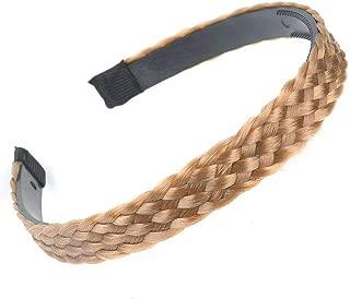 MOPOLIS Hot Women Synthetic Braided Wig Hair Plaited Headband Headwear Hair Accessories | Styles - 1.5cm Width/gold