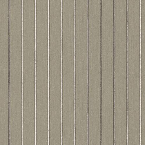 Casa Padrino Barock Textiltapete Grau/Grün 10,05 x 0,53 m - Deko Accessoires im Barockstil