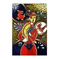 """キャンバスにプリント抽象的な印象女性の写真壁アートアートワーク絵画ポスターリビングルーム寝室家の装飾23.6"""" x35.4""""(60x90cm)フレームレス"""