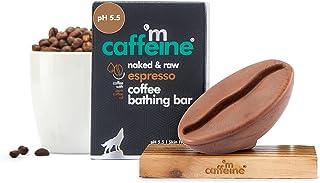 mCaffeine Naked & Raw Espresso Coffee Bathing Bar Soap | Deep Cleansing | Pure Coffee Oil, Vitamin E | Ph 5.5, Skin Friend...