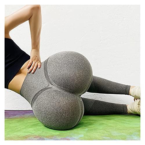 Mallas De Deporte De MujerPantalones Deportivos Pantalones de deporte de las mujeres del deporte de las patas de la cintura alta sin fisuras Pantalones de yoga de la cintura de la aptitud del gimnasio