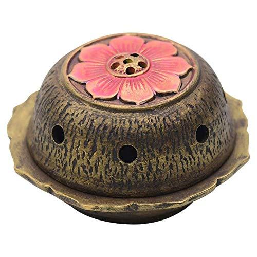 AFDK Quemador de incienso flor de loto, de cerámica Estufa