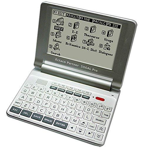 ECTACO 500AL Pro Multilingual Words Translator/Dictionary; Arabic, Chinese, French, German, Japanese, Korean, Russian Plus 20 Additional Languages.