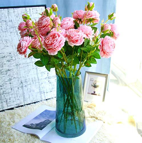 Flores Artificiales, PeoníAs Rosas, 18 Flores, Jardineras De Flores Artificiales, SalóN Y Oficina En Casa