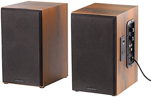 auvisio Lautsprecher Holzgehäuse: Aktives Stereo-Regallautsprecher-Set im Holz-Gehäuse mit Bluetooth (HiFi Lautsprecher)