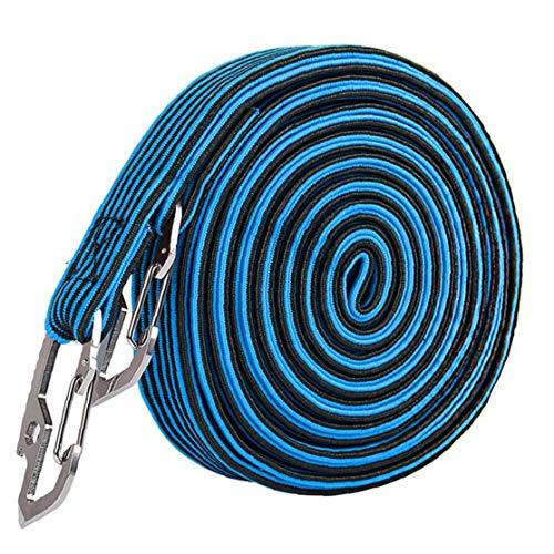 AAGOOD- Tronco Cuerda Atada Motocicleta de la Bicicleta Tire de la Cuerda elástica Correa Cuerda Atada Envuelta de Equipaje de la Correa en Azul Encuadernación