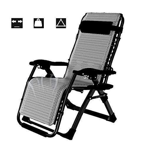 ZMCOV Silla Gravedad Cero/tumbonas Plegables/sillas Camping/Sillón de Playa Relajante/Carga 200kg / Gris
