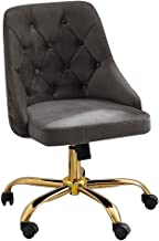 Modern Mid-Back Velvet Fabric Computer Desk Chair Swivel with Soft Seat,Height/Angle Adjustable Home Office Chair Task Cha...