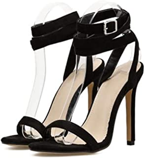 Women's Open Toe Stiletto High Heel Ankle Strap Sandals for Dress Shoes