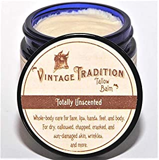 Beef Tallow Balm for Skin Care – Unscented, All Purpose Balm for Sensitive Skin Heals and Hydrates with Olive Oil + Tallow...