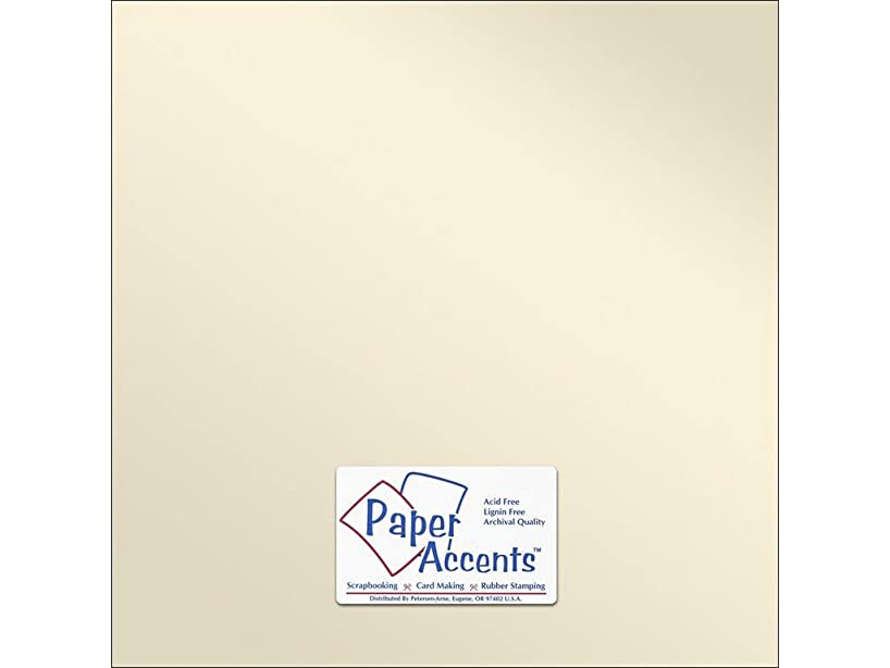 Accent Design Paper Accents Paper Pearlized 12x12 80# Champagne