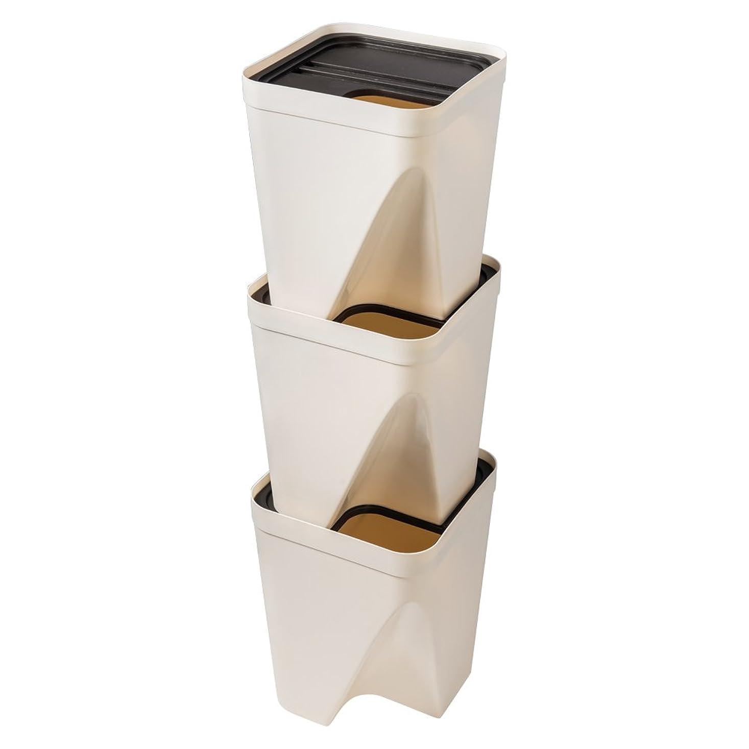 ノーブルナンセンスレモンiOCHOW ゴミ箱 25x25x30cm 3段縦置き 分別タイプ 省スペース ユニークなファッションデザイン 美しく実用的
